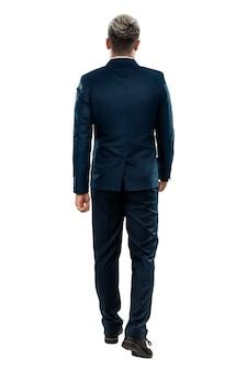 ビジネススーツを着た男、ビジネスマンの背面図