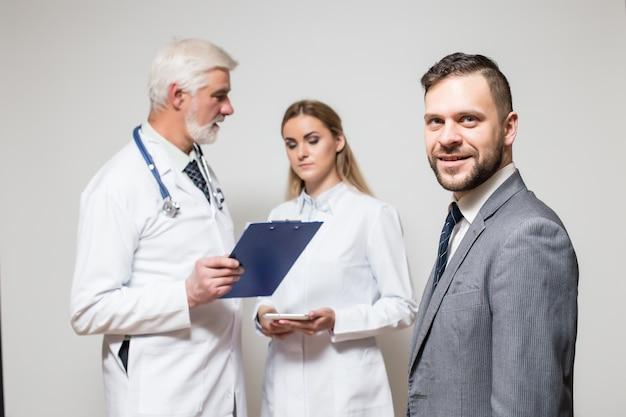 Man listen room business checkup medical