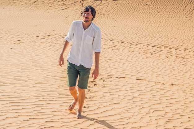 A man lost in the red desert in vietnam, mui ne.