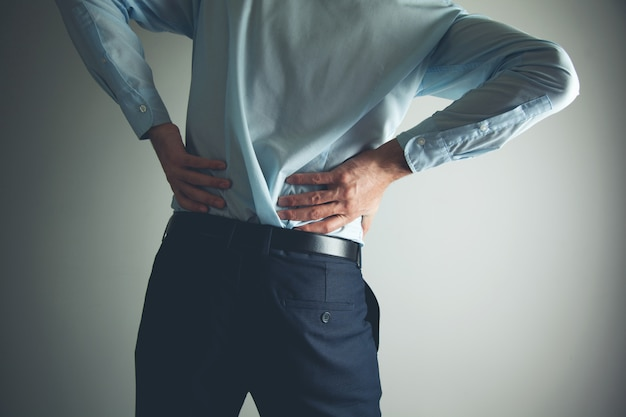 Man lower back pain