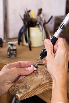 Man making a beautiful ring