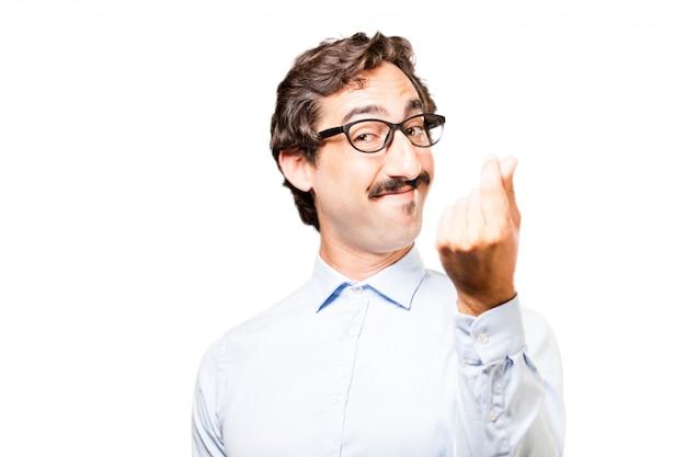 Man making gesture of money