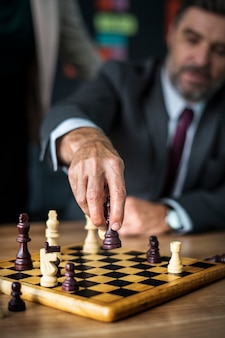 Man making his next move
