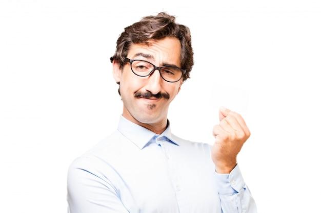 Uomo che fa un gioco da ragazzi con le dita