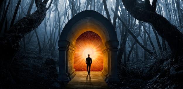 重大な決定のために瞑想する男
