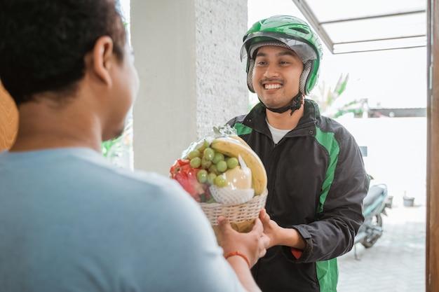 Man ordering food online
