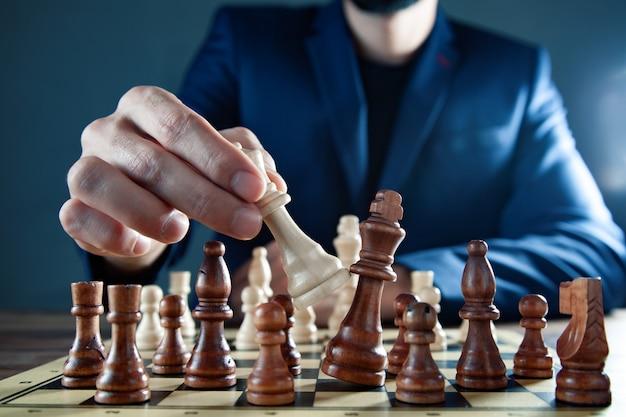 Man play chess