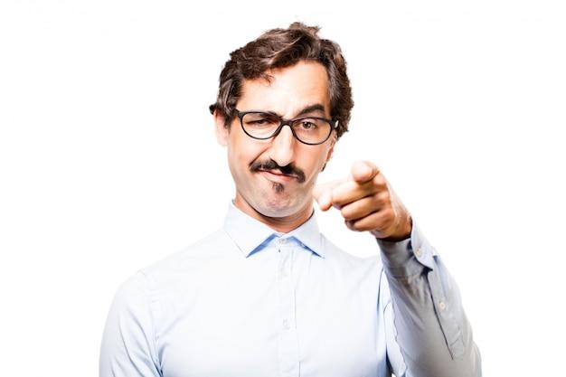 Man pointing annoying