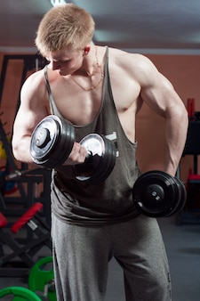 Man posing bodybuilder