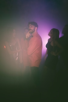 Man posing in disco