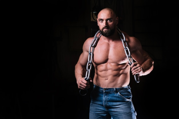 Man posing with chain