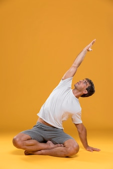 Man practicing yoga pose