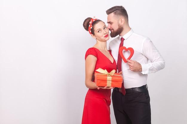 남자 선물 선물 상자 발렌타인 데이에 그의 사랑
