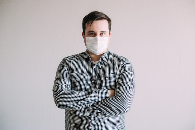 Man in a protective mask against coronavirus
