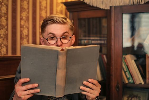 Man read a book