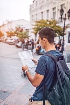 Man reading man while traveling