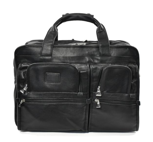 4つの長方形のジッパー式コンパートメントを備えた男性用バッグ。 Premium写真