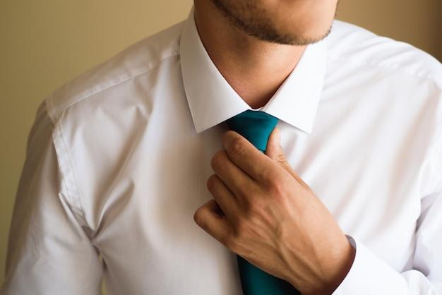 남자의 스타일. 정장, 셔츠와 팔목