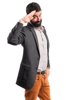 Man saluting