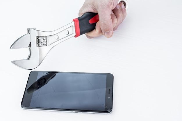 Man smashes phone