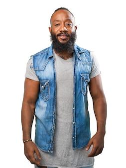 Man smiling with beard