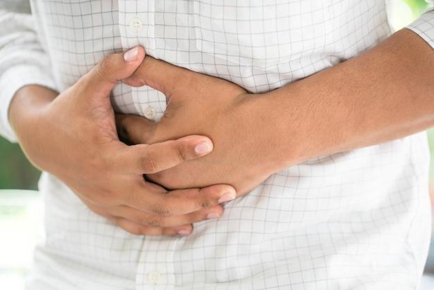 Man stomachache