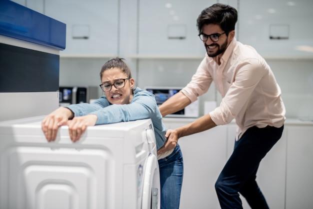 洗濯機から妻を奪う男