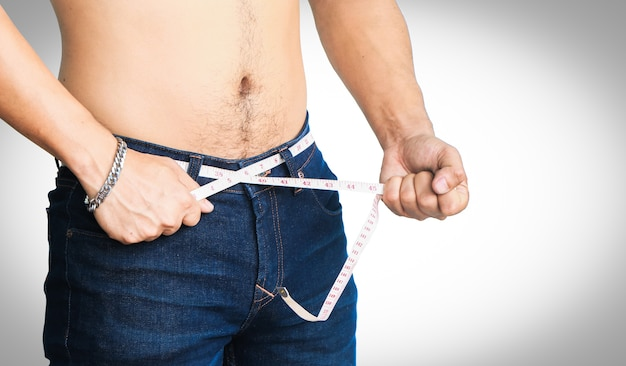 Man try loss weight isolated