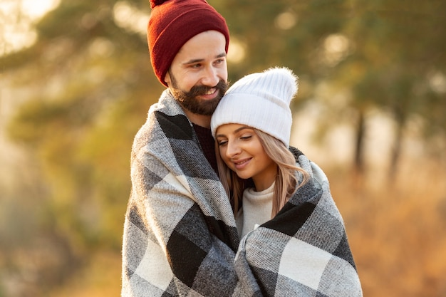 Man warming up together with his girlfriend