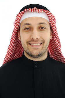 Man wearing arabic middle eastern traditional clothes