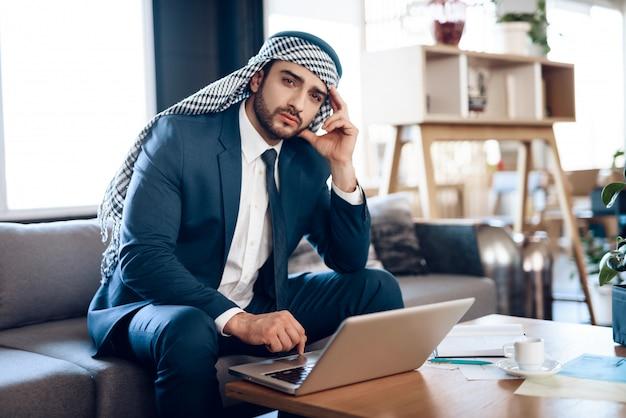 Man wearing in black suit. experienced entrepreneur.
