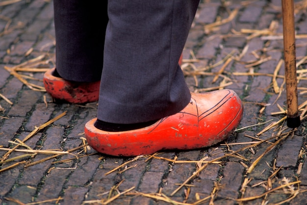 Man wearing clogs, holland