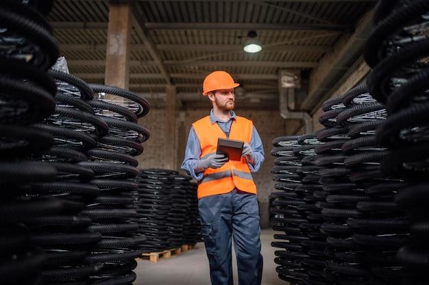 Man wearing a safety cap at work