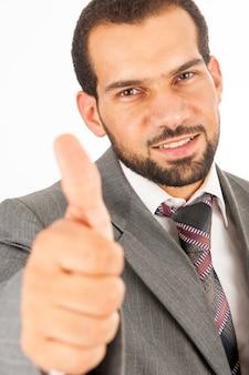 Man wearing suit studio