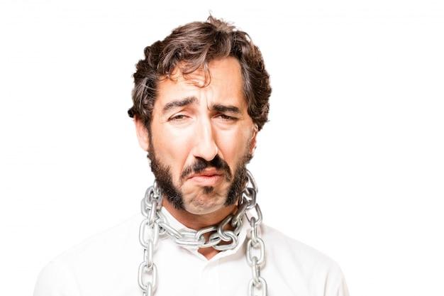 Человек с цепью на шее