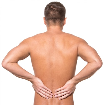Man with backache