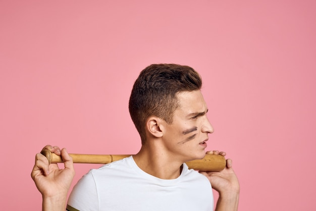 Man with bat in hands