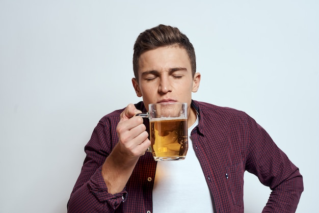 Man with a beer in his hands