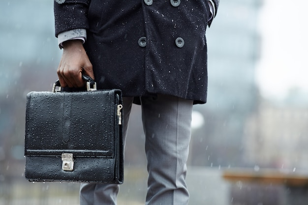 Man with briefcase