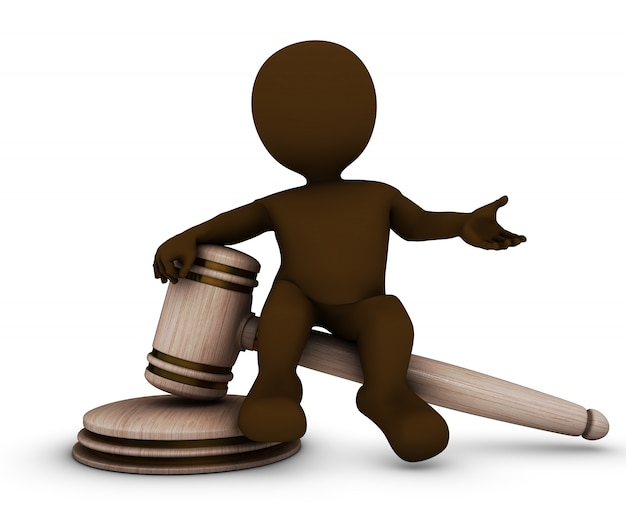 Man with a gavel