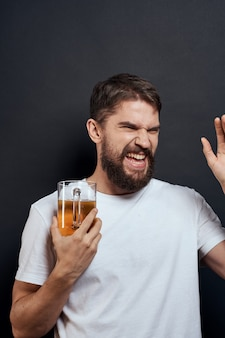 Man with a mug of beer in his hands