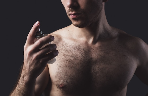 Man with perfume