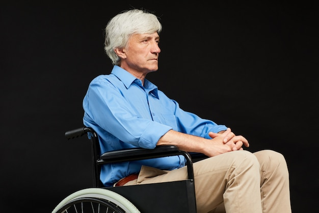 Man with physical impairment