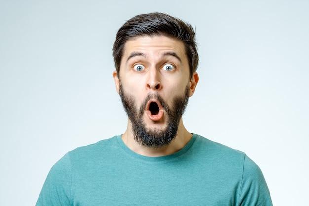 Man with shocked, amazed expression