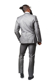 Man with suit back