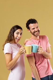 Man and woman best friends portrait