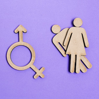 Man and woman equal rights and gender symbol