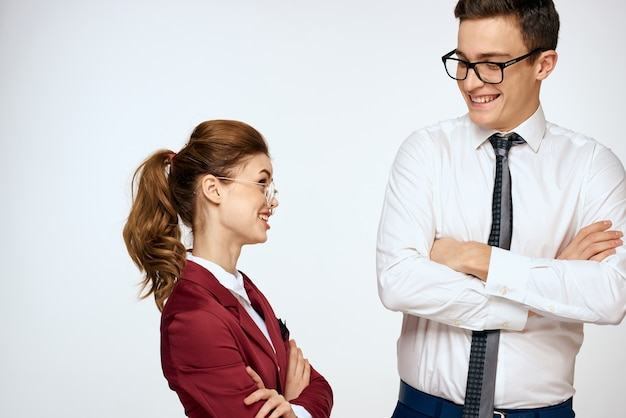 Man and woman, harassment at work, sexual relations at work, boss and subordinate