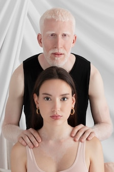 Man and woman with different unique feature
