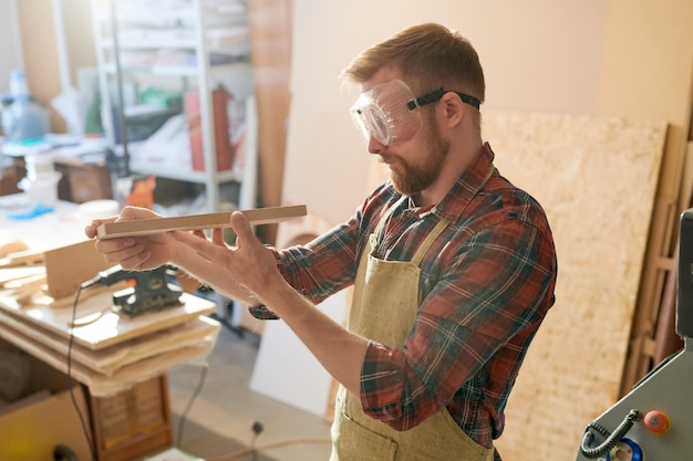 Man at woodworking shop